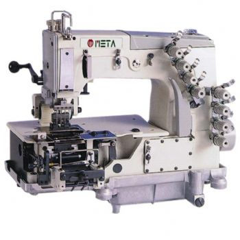 FLATBED40NEEDLEDOUBLE CHAIN STITCH MACHINE FOR ATTACHING ELASTIC Amazing 4 Needle Elastic Sewing Machine
